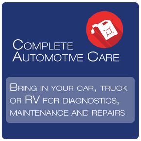 Complete Automotive Care, Bring in your car, truck or RV for diagnostics, maintenance and repairs, Our Services
